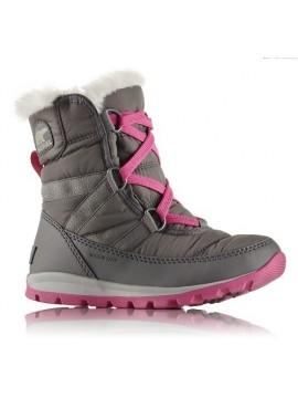 Sorel žiemos batai WHITNEY SHORT LACE. Spalva pilka / rožinė