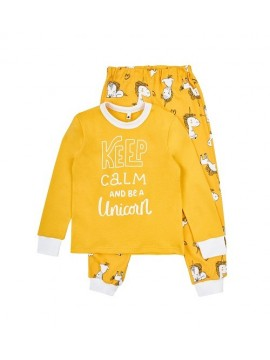 Garnamama vaikiška pižama su užrašu. Spalva geltona