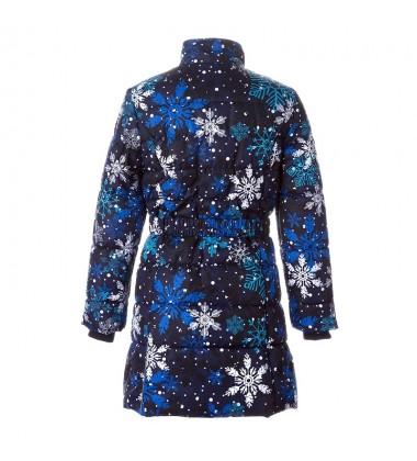 Huppa Žiemos Paltukas Mergaitėms YACARANDA. Spalva tamsiai mėlyna su printu
