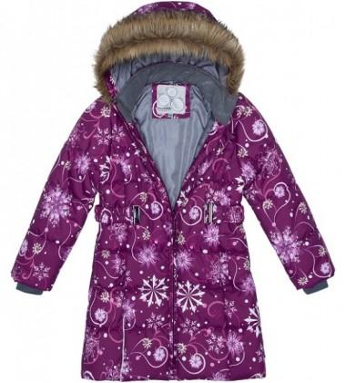 Huppa Žiemos Paltukas Mergaitėms YACARANDA. Spalva Bordinė Su Printu