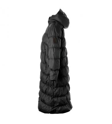Huppa žiemos pūkinis paltas moterims NAIMA. Spalva juoda