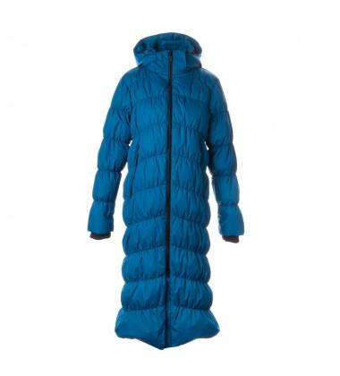 Huppa žiemos pūkinis paltas moterims NAIMA. Spalva mėlyna / elektrinė