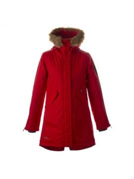 Huppa moteriška žiemos striukė - paltukas VIVIAN. Spalva ryškiai raudona 2021/2022