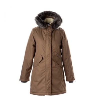 Huppa moteriška žiemos striukė - paltukas VIVIAN. Spalva smėlio