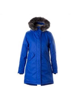 Huppa moteriška žiemos striukė - paltukas VIVIAN. Spalva ryškiai mėlyna