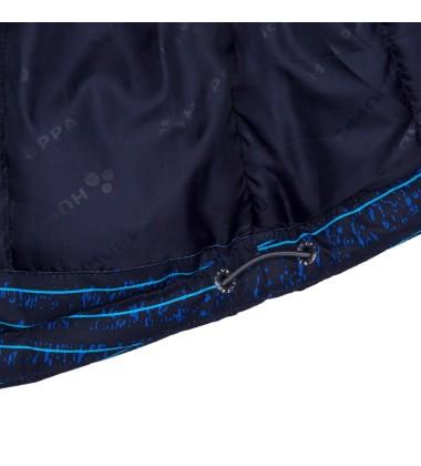 Huppa žiemos striukė MARINEL. Spalva tamsiai mėlyna su printu