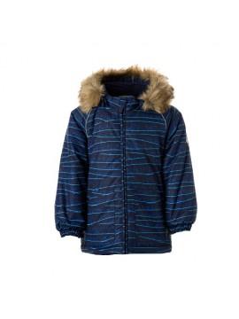 Huppa žiemos striukė VIRGO. Spalva tamsiai mėlyna su printu