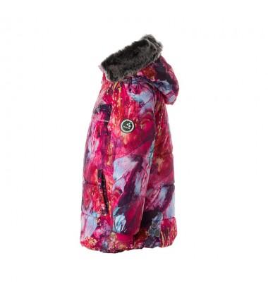 Huppa žiemos striukė mergaitėms MELINDA. Spalva rožinė su printu