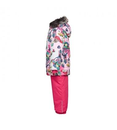 Huppa Žieminis Komplektas Mergaitėms BELINDA 1. Spalva šviesiai rožinė su printu / rožinė