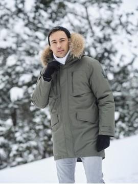 Huppa vyriška žiemos striukė DAVID. Spalva chaki