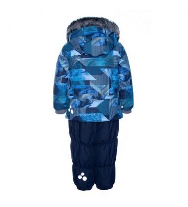 Huppa žieminis komplektas berniukams RUSSEL. Spalva mėlyna su printu / tamsiai mėlyna