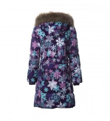 Huppa Žiemos Paltukas Mergaitėms YACARANDA. Spalva violetinė su snaigutėm