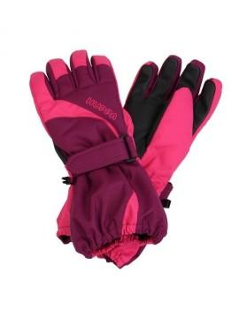 Huppa žiemos pirštinės JOSH. Spalva rožinė / bordo