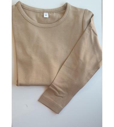 Vaikiška palaidinė ilgomis rankovėmis. Spalva šviesiai ruda