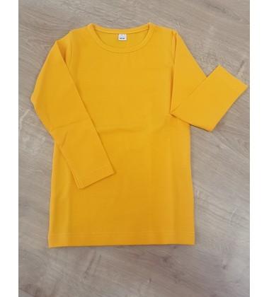 Vaikiška palaidinė ilgomis rankovėmis. Spalva ryški geltona