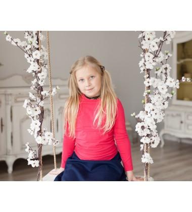Vaikiška palaidinė ilgomis rankovėmis. Spalva rožinė