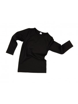 Vaikiška palaidinė ilgomis rankovėmis. Spalva juoda
