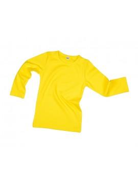 Vaikiška palaidinė ilgomis rankovėmis. Spalva geltona