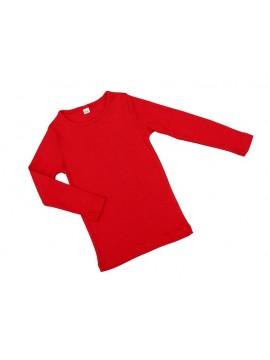 Vaikiška palaidinė ilgomis rankovėmis. Spalva raudona