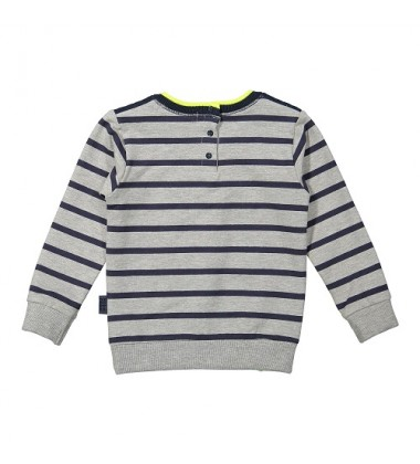 Koko - Noko  džemperis berniukui. Spalva dryžuota pilka / mėlyna