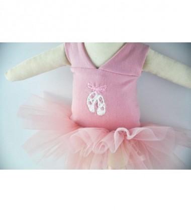 MYtinyHobby lėlytė Princess ( ant suknelės išsiuvinėta baleto bateliai )