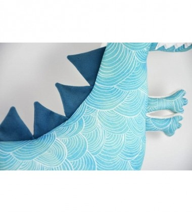 MYtinyHobby pagalvėlė - žaislas Dinozauras. Spalva šviesiai mėlyna