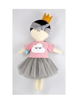 MYtinyHobby lėlytė Princess ( ant suknelės išsiuvinėtas debesėlis )