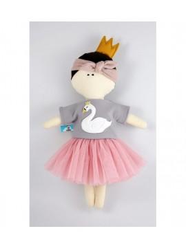 MYtinyHobby lėlytė Princess ( ant suknelės išsiuvinėta gulbė )