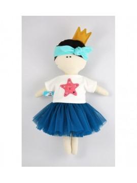 MYtinyHobby lėlytė Princess ( ant suknelės išsiuvinėta žvaigždė )