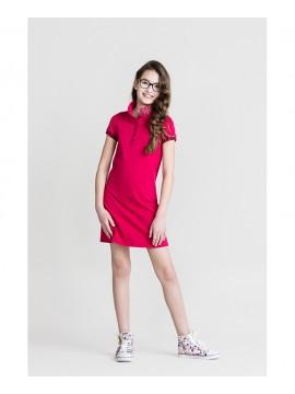 Monomy suknelė Polo. Spalva rožinė. Dydžiai 116 - 146 cm