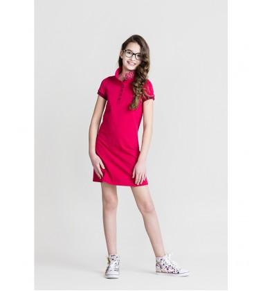 Monomy suknelė Polo. Spalva rožinė. Dydžiai 92 - 110 cm