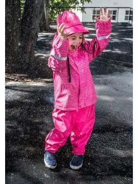 Reima lietaus striukė Vesi. Spalva šviesiai rožinė / dryžuota 2020