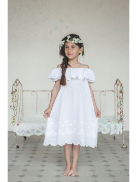 Amiki Children naktinukai mergaitėms Aurelia. Spalva balta