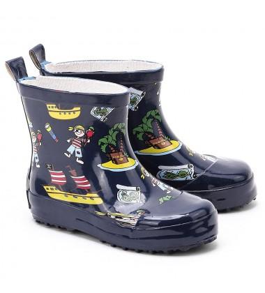 Playshoes guminiai botai. Spalva mėlyna su piratais