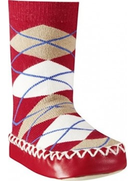 Playshoes kojinės su neslidžiu paduku. Spalva bordo su rombais
