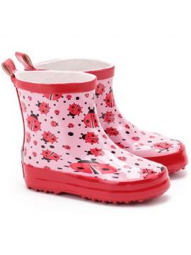 Playshoes guminiai botai. Spalva rožinė su boružėlėmis