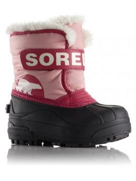 Sorel žiemos batai Snow Commander. Spalva šviesiai rožinė