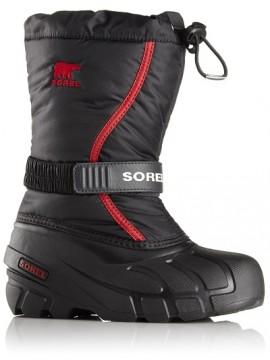 Sorel žiemos batai FLURRY. Spalva juoda / raudona