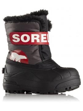 Sorel žiemos batai Snow Commander. Spalva juoda / raudona