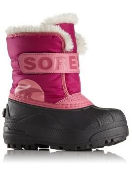 Sorel žiemos batai Snow Commander. Spalva ryškiai rožinė 2018