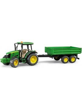 Bruder žaislas traktorius su priekaba. John Deere 5115M