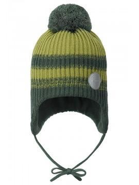 Reima žiemos kepurė Hiberna. Spalva dryžuota žalia