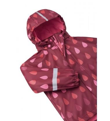 Reima lietaus striukė su fliso pašiltinimu Koski. Spalva tamsi raudona