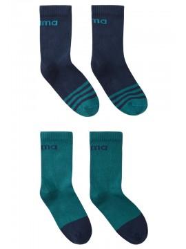 Reima kojinės Jalkaan. Spalva žalsva / tamsiai mėlyna