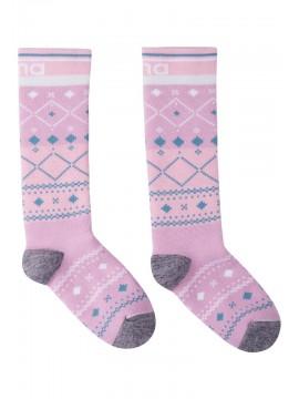 Reima termo kojinės Suksee. Spalva rožinė su printu