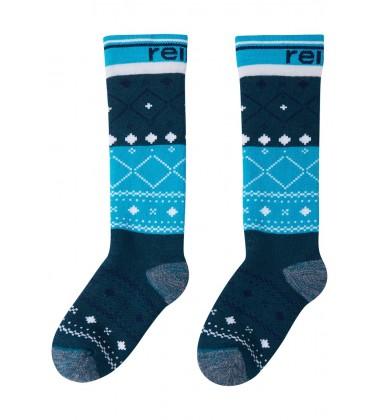 Reima termo kojinės Suksee. Spalva mėlyna su printu