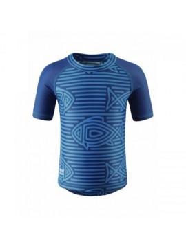 Reima marškinėliai AZORES. Spalva mėlyna / dryžuota