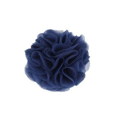 Manufaktura Falbanek segtukas su pomponu. Spalva tamsiai mėlyna