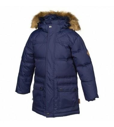 Huppa vyriška žiemos pūkinė striukė LUCAS. Spalva tamsiai mėlyna