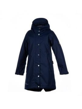 Huppa žiemos moteriška prailginta striukė JANELLE. Spalva tamsiai mėlyna